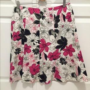 Floral A-line skirt - Size 12 Petite